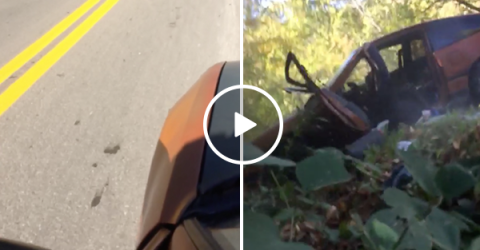 Idiot decides to ride dead car like a skateboard, crashes it (Video)