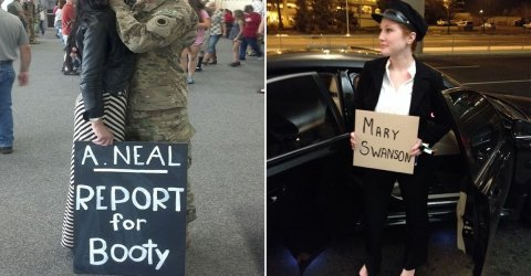 Funny, clever, and heartwarming airport pickup signs (28 Photos)