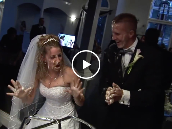 Groom Puts Cake in Bride's Face and Gets Her Bloodied