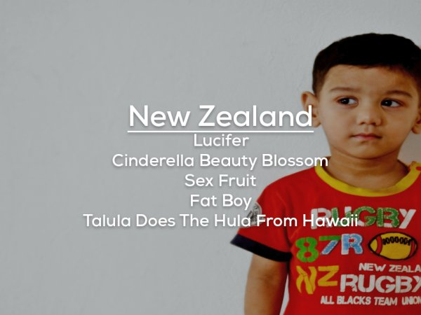 Banned baby names from around the world (13 Photos)