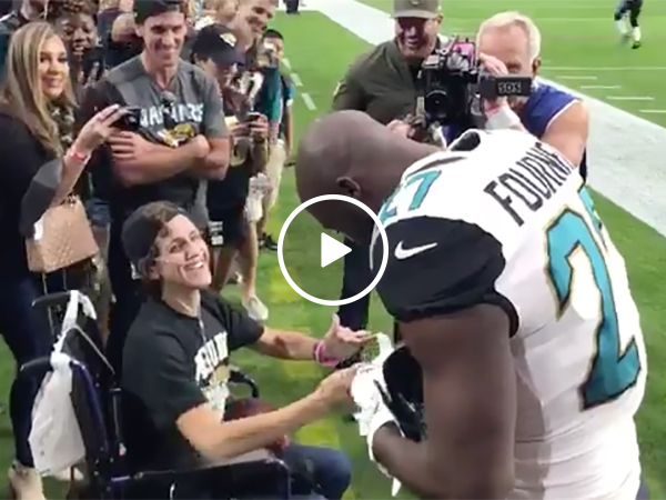 Leonard Fournette Gives Fan His Cleats | NFL Player Act of Good