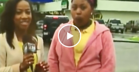Girl Pees During Interview On Live Television