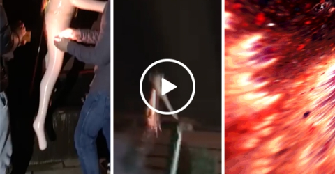 Firework in a sex doll creates huge explosion