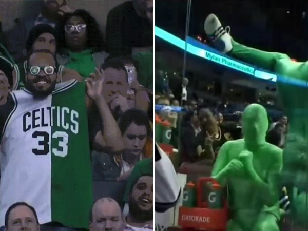 Sports fans being weird and funny
