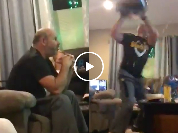Steelers fan loses his mind over insane loss to the Patriots (Video)