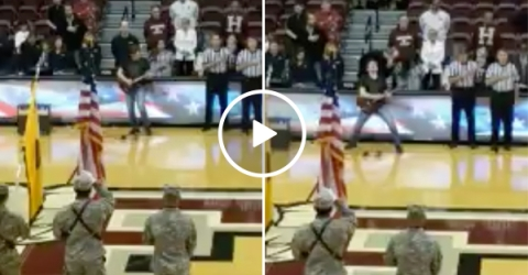 National Anthem performance by Electric Guitarist