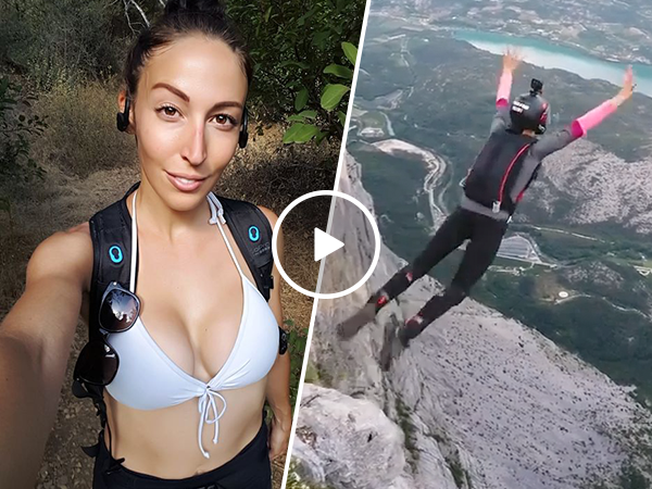 Aly Demayo is a badass base jumping, shark diving woman (Video)