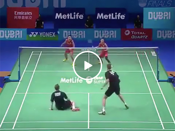 A Badminton Rally That Had Guys Jumping Everywhere