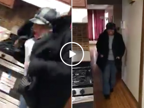 Grandson Gifts Grandma With A New Oven For Christmas