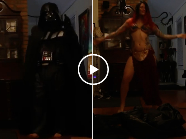 Wife Gives A Star Wars Strip Tease in Darth Vader Costume