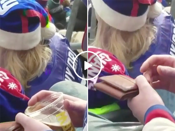 New York Giants Football Fan Drinks Too Much Beer