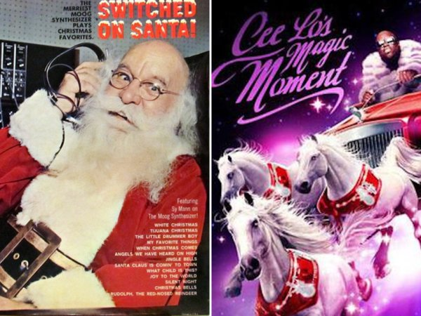 Terrible Christmas Album Covers