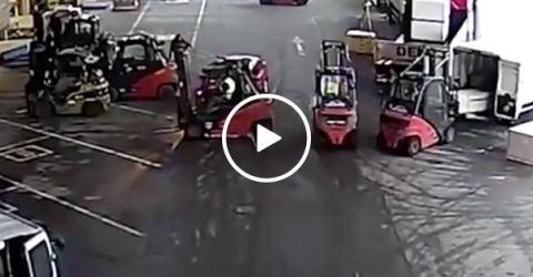 Forklift Drivers Thwart A Robbery Plan Right In Its Tracks