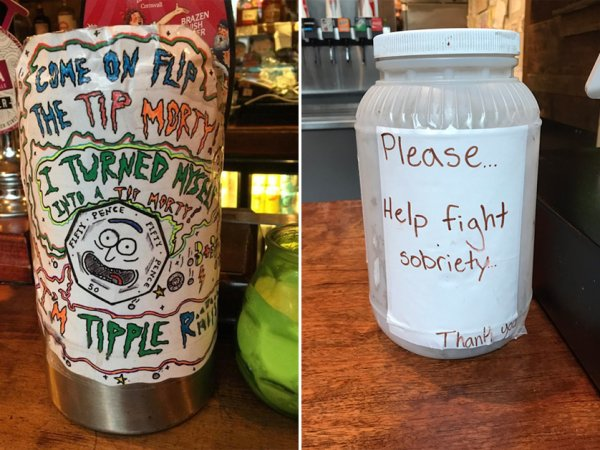 Tip jars that will make you laugh and make you think