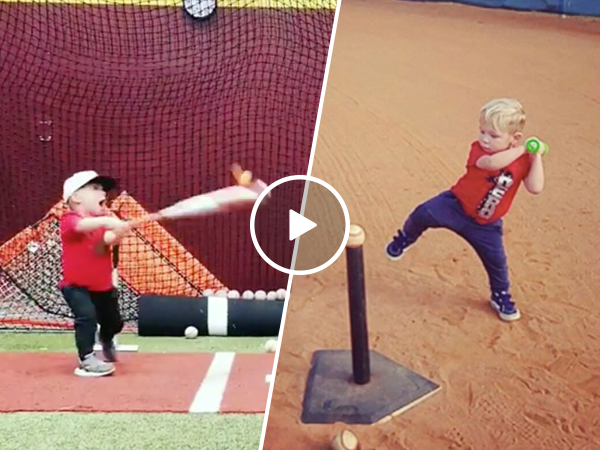 Adorable boy can hit a baseball like the professionals (Video)