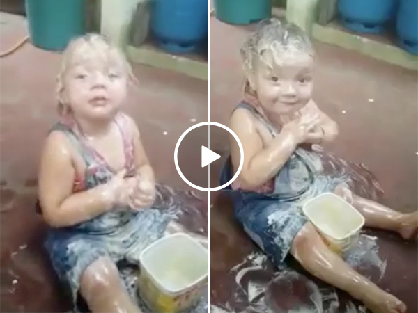 Daughter Smears Her Whole Body With Butter And Looks Like A Chicken