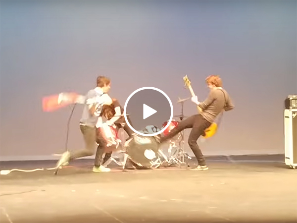 Band at high school talent show has an appetite for destruction