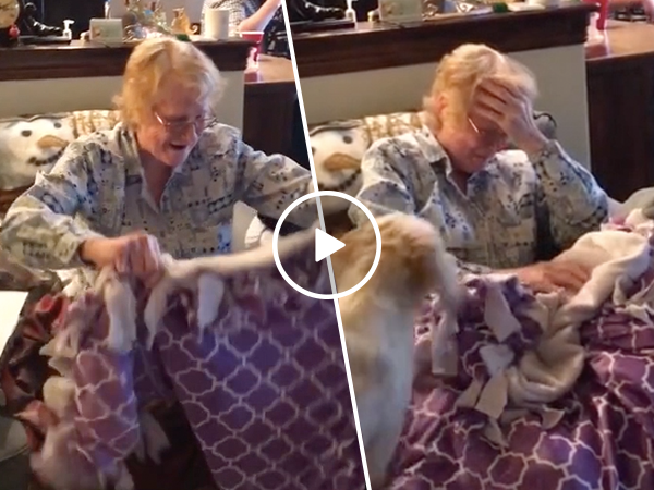 Grandmother with cancer gifted special blanket for Chemo (Video)