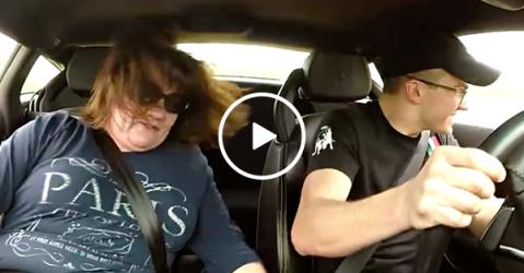 Man takes his mom on Lamborghini joy ride (Video)