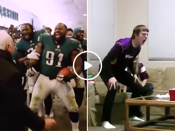 Philadelphia Eagles and Minnesota Vikings fans After NFC Championship