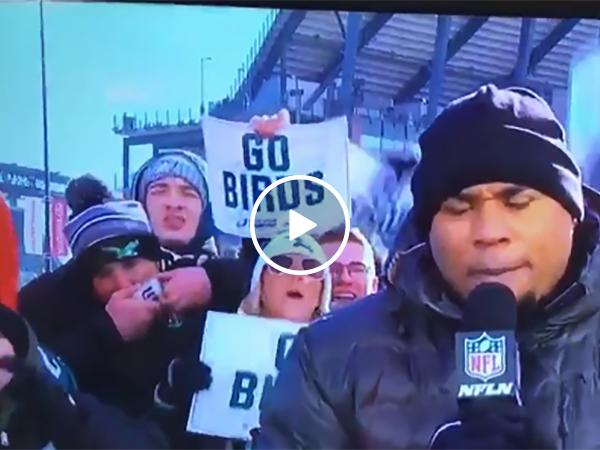 Guy Shotguns Beers On Live TV Before Philadelphia Eagles Game