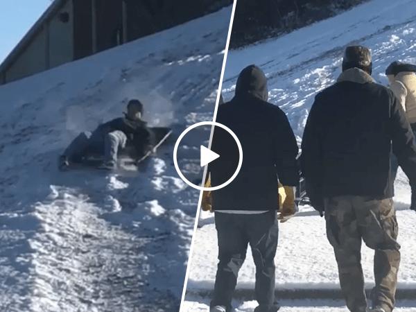 Sledder learns it's still Nutcracker season (Video)