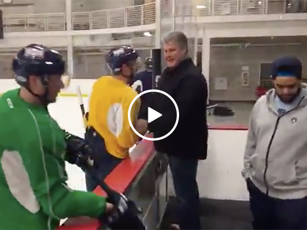 Hockey Player Tells Dad He's Going to the Olympics with USA