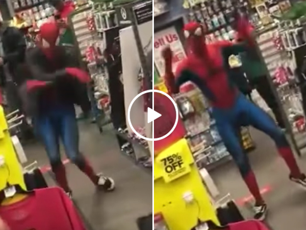 Spiderman dances to Take On Me by a-ha