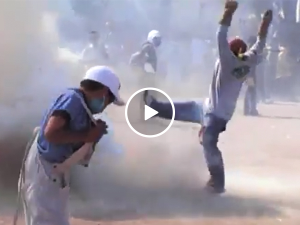 Explosion sends sledgehammer flying in Mexican festival (Video)