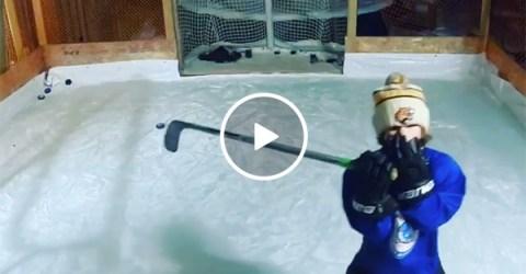 Hockey Kid Stick Handles and Skates Like Connor McDavid & Gretzky