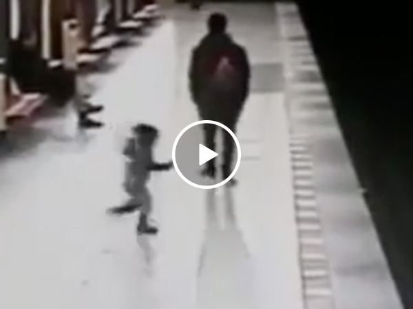 Student saves 2-year-old from Italian metro tracks (Video)