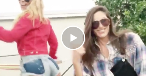 Two Hot Models Do A Rap and Booty Twerk Dance