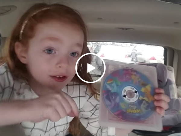 Little girl has the most adorable freakout over My Little Pony movie