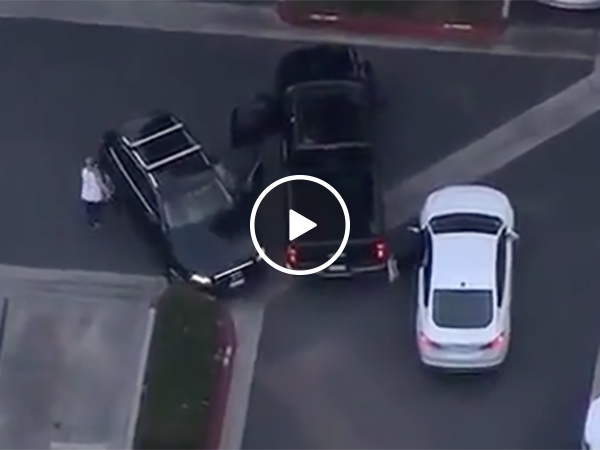 Grand Theft Auto style Car Chase Ends With Robber Getting Owned