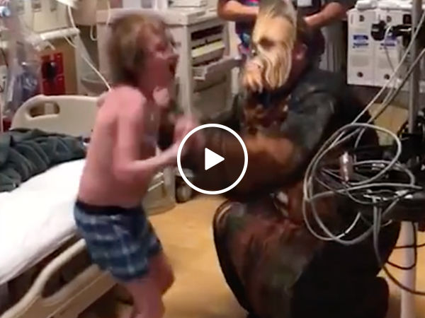 Little Star Wars fan gets life changing news from doctor (Video)