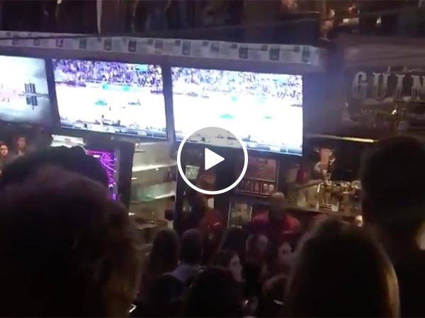 Michigan Bar Goes Crazy After Basketball Team Beats Houston