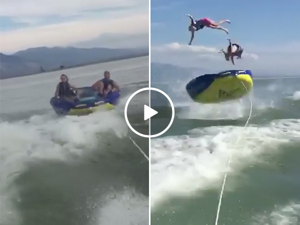 Water Tubing Fail | People Eat Shit While Boating On a Lake