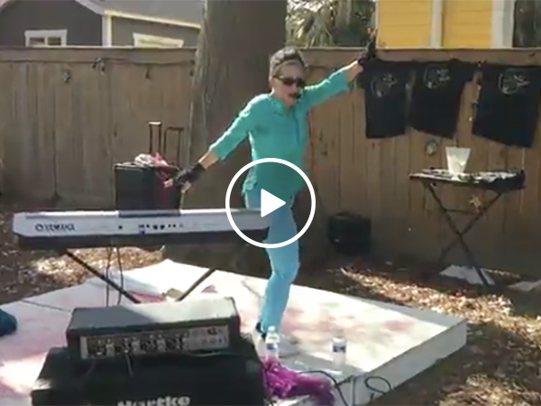 Crazy lady Dances Provocatively In Front of Kids and Families