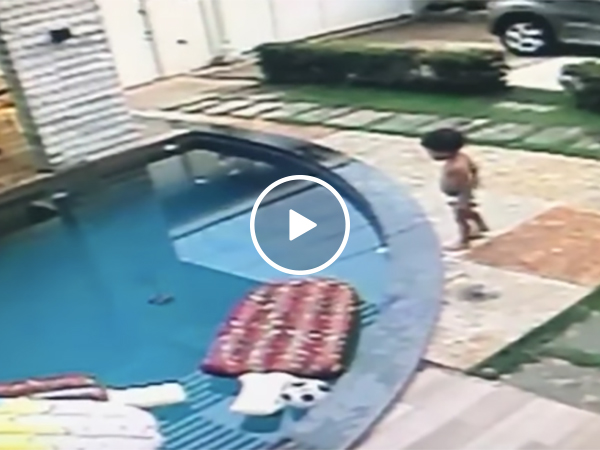 Kid Saves A Drowning Baby From A Pool