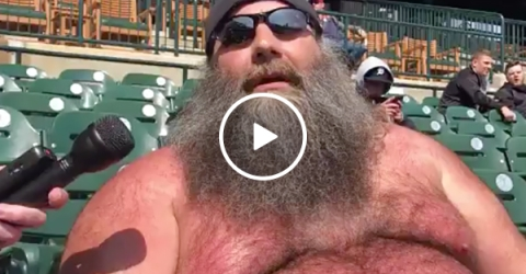 Detroit Tigers Fan Explains Why He Watches Baseball Topless