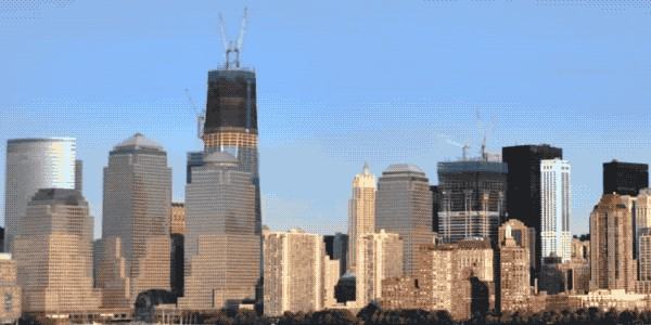 time lapse gifs of building one world trade center 18 gifs 855 Freedom Tower FACTS and Time Lapse GIFs of building the ONE World Trade Center (20 GIFs)