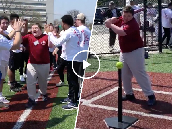 Man with Down Syndrome celebrates Homerun with awesome dance (Video)