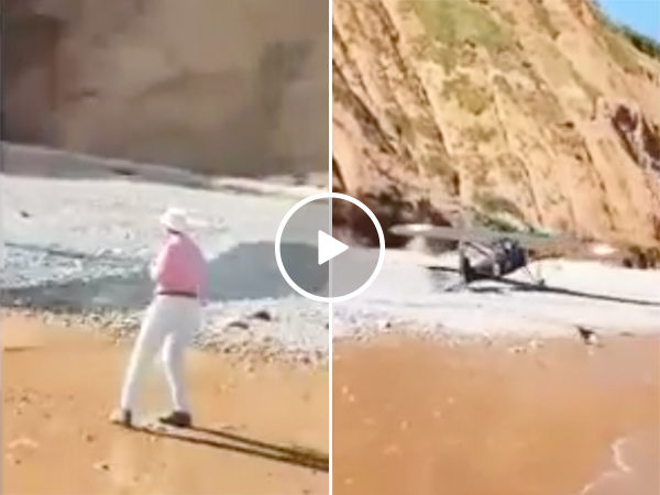 Airplane Pilot Flawlessly Lands An Airplane On A Beach