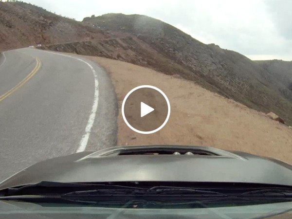 Car drifts off mountainside at 80 miles per hour (Video)