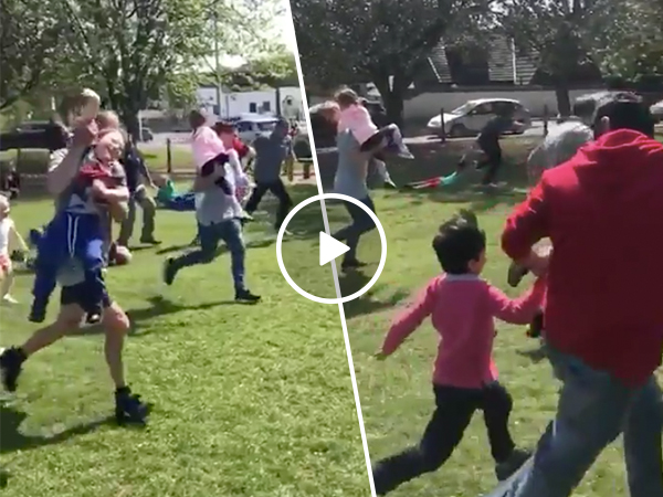 If your ain't first your last in the competitive Dad world (Video)