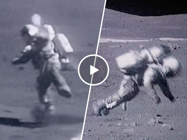 Even astronauts lose the battle against gravity (Video)