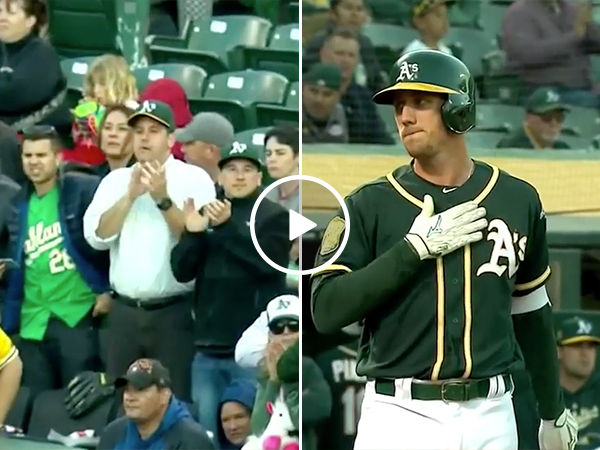 Oakland Athletics Fans Give Stephen Piscotty An Applause of Respect
