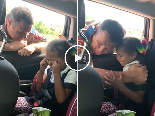 Mother grateful for officer's kind lesson about stealing to daughter