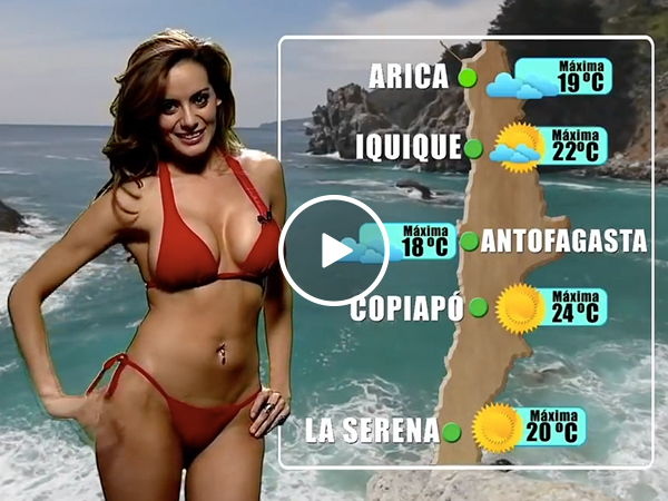 Chile knows how to report the weather (Video)