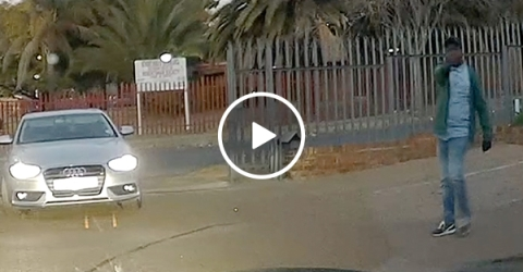 Couple narrowly escapes terrifying carjacking attempt (Video)